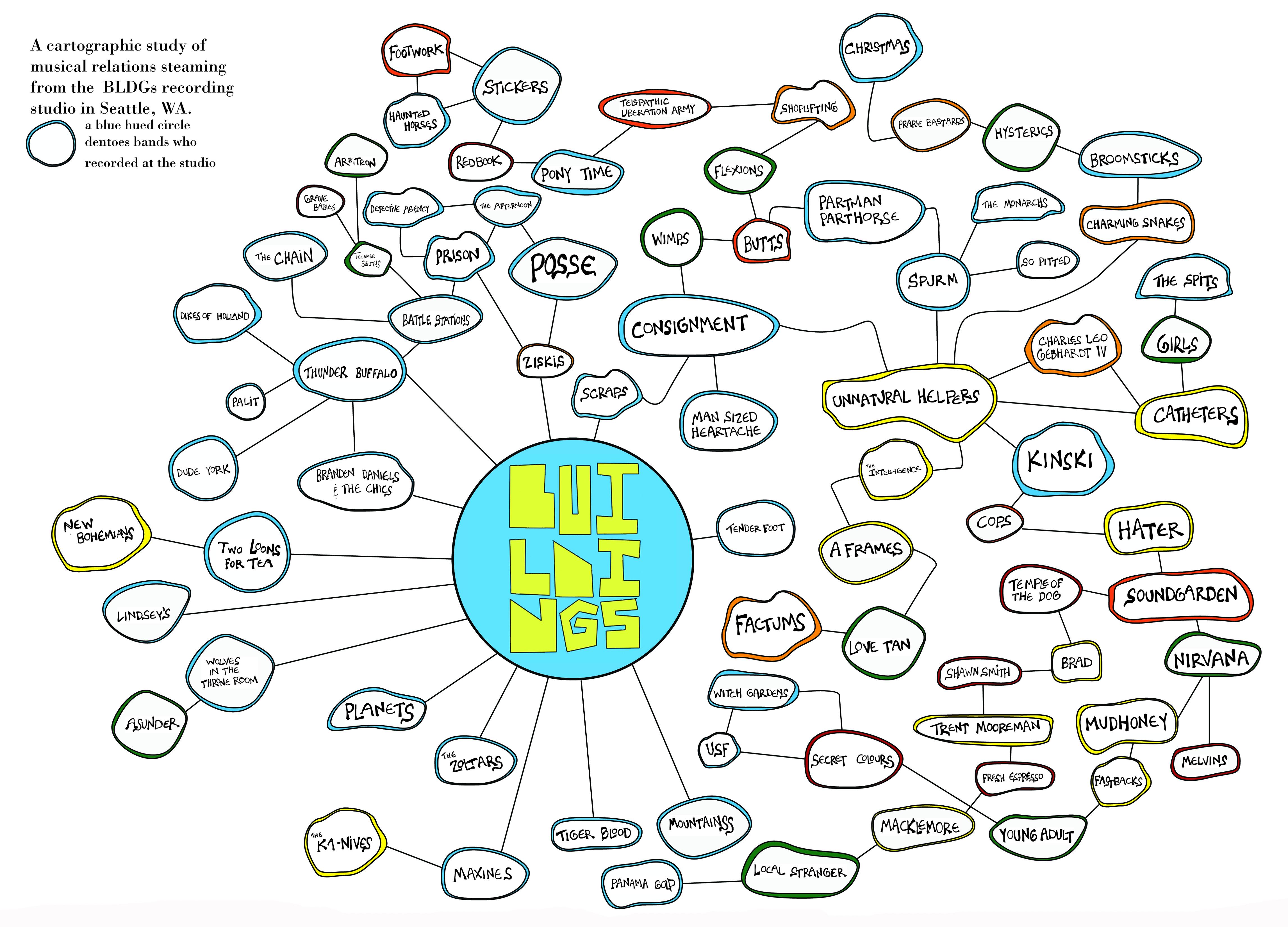 BLDGs! | Seattle Band Map